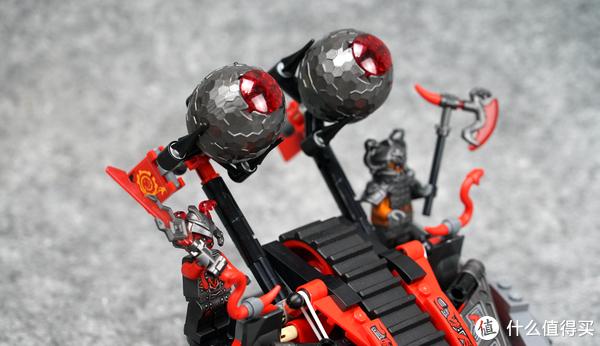 人仔就已经值回票价:LEGO乐高 70624 NINJAGO 幻影忍者系列 红蛇投石履带战车 开箱