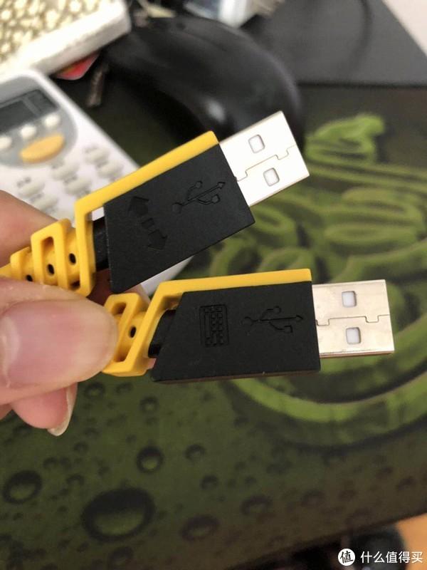 这个必须说一下,一个是给键盘供电的,一个是给键盘上的usb口供电的。