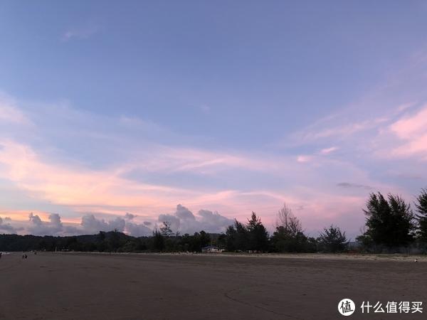 超级美丽的日落一角