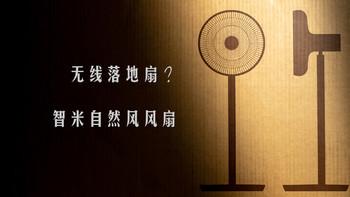 原来落地扇还可以无线使用:智米自然风风扇