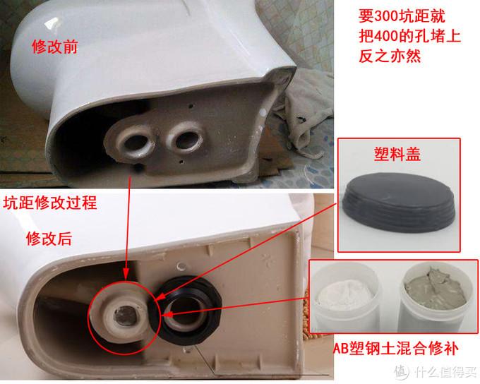 双孔马桶坑距的修改过程