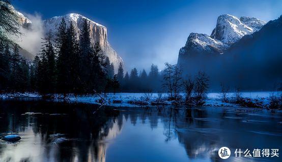▲秋日清晨的大提顿,山川河流是透明的幽蓝
