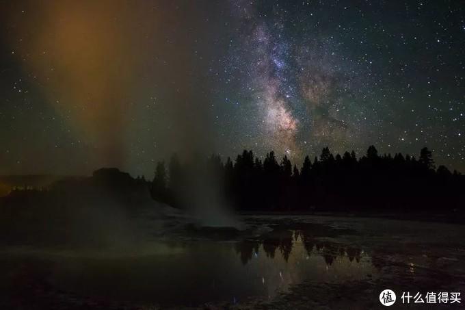 ▲也有划破夜空的银河