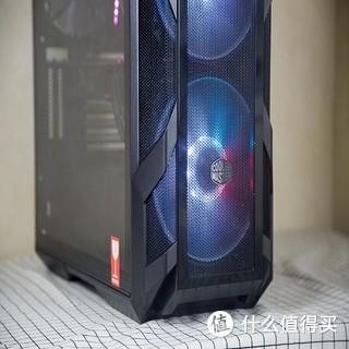 为了这台轻松装机理线而且还有炫酷ARB灯光的酷冷至尊H500M游戏机箱我又买了华硕M10H+1080Ti