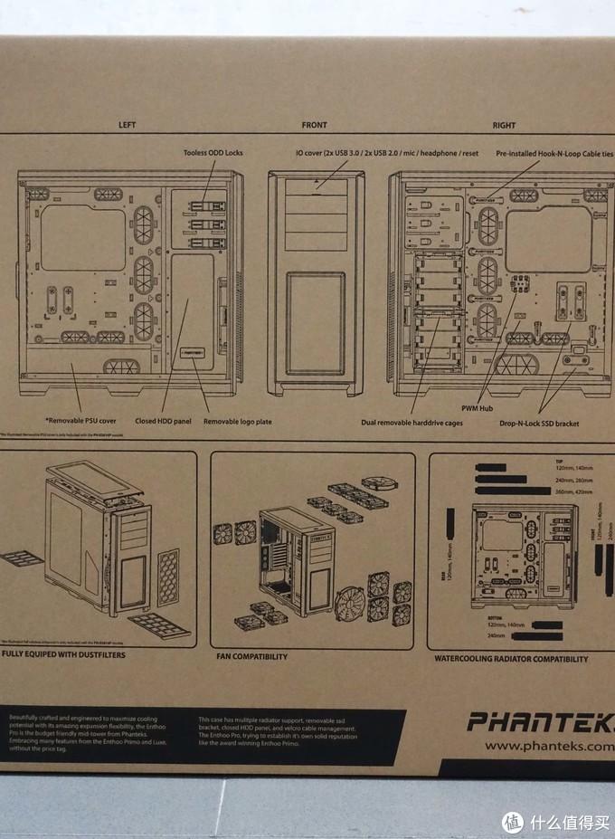 机箱的爆炸图,最大的亮点是其硬盘笼,位置非常多