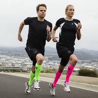 CEP 德国男女机能压缩小腿套 跑步骑行运动护腿马拉松装备 男士WS55H0 夏威夷蓝/绿色 III(M)腿围32-38CM