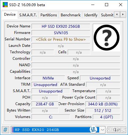 HP 惠普 EX920 M.2 NvMe 256GB 固态硬盘使用体验