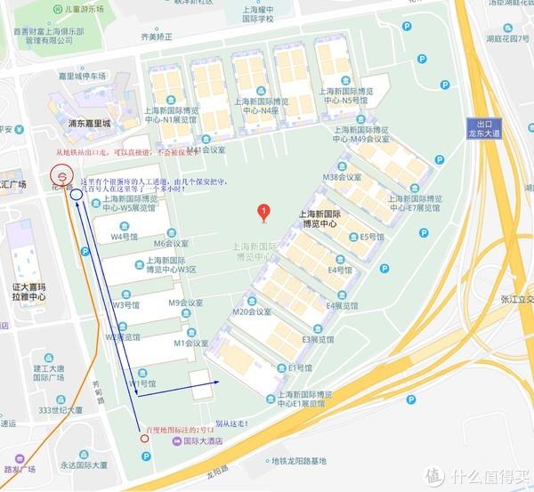 上海新国际博览中心地形图