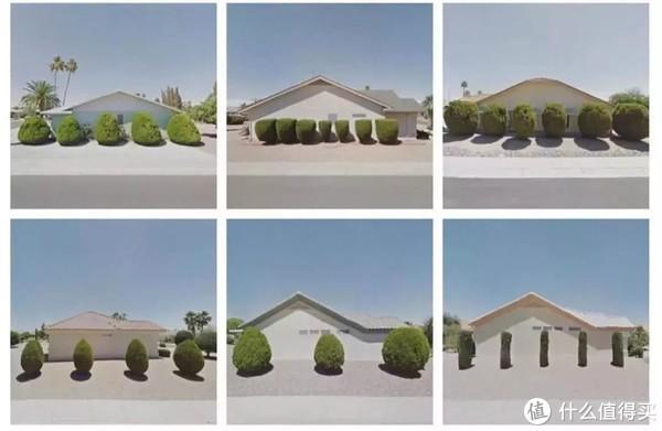 美国亚利桑那州居民门前的园艺景观