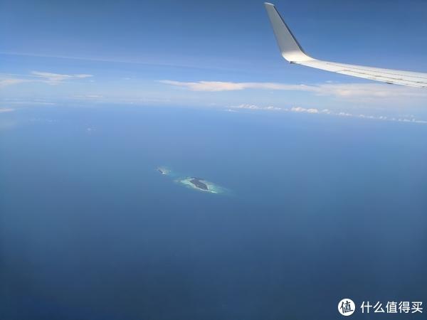飞机上拍到的美人鱼岛