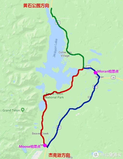 蓝线为东线,红线为西线,绿线为去往黄石的北线
