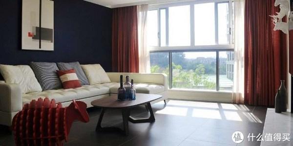 新手爸爸为爱装新家,深蓝与橙红色的撞击打造一个温馨家居