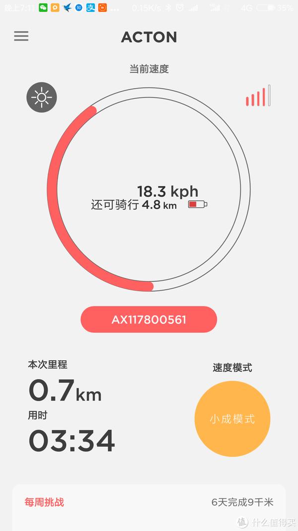 小成模式最大速度18.3