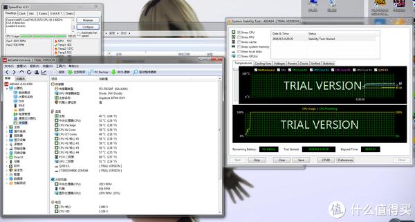 ▲AIDA64拷机CPU温度和之前基本一致