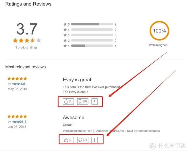 ebay上关于该商品的评论