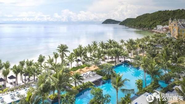 ▲酒店的私人海滩