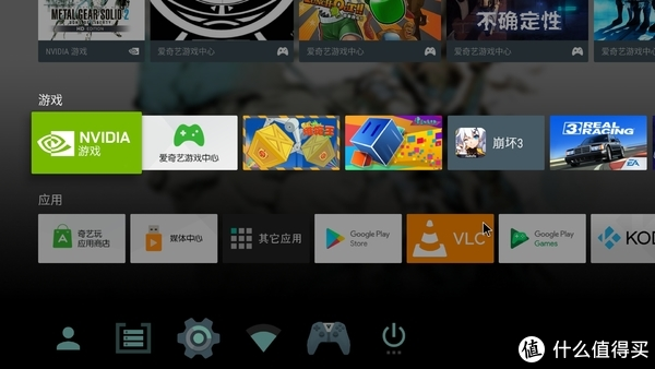 Nvidia Shield TV系统界面