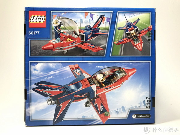 稍微丑了点:LEGO 乐高 60177 空中特技喷气机开箱