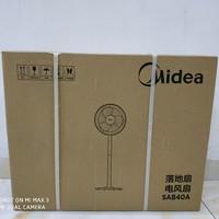 美的 SAB40A 电风扇外观展示(底座 立柱 主体 外罩 电机)