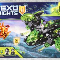 乐高 72003 未来骑士团 Nexo Knights 狂战士轰炸机开箱展示(零件 人仔 头盔 徽章 飞行器)