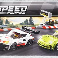 乐高 Speed Champion 系列 保时捷 911 RSR & Turbo3.0 75888开箱展示(人仔 贴纸 车手 搭建)