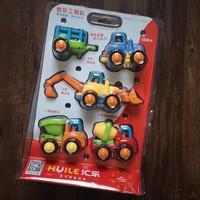 汇乐326快乐工程车队 玩具模型汽车开箱介绍(拖拉机|挂斗|LOGO|推土机|铲斗)