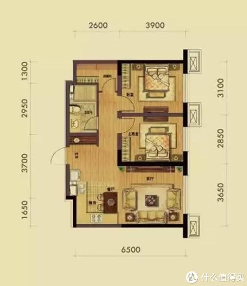 户型图(建筑面积)