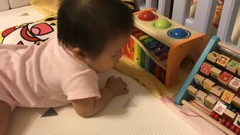 轻松打造宝宝的游戏区域——贝瓦PVC双面防滑爬行垫+围栏测评