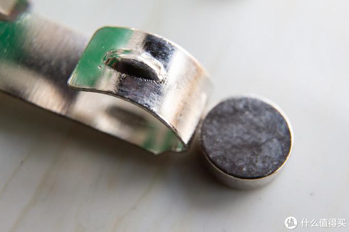 五金片实测有微磁