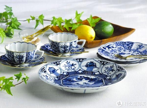 青花餐具,九谷烧