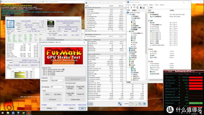 单拷GPU(MX150)18分钟,CPU63度,GPU89度,频率1468MHz,功耗不知道在哪儿看TT