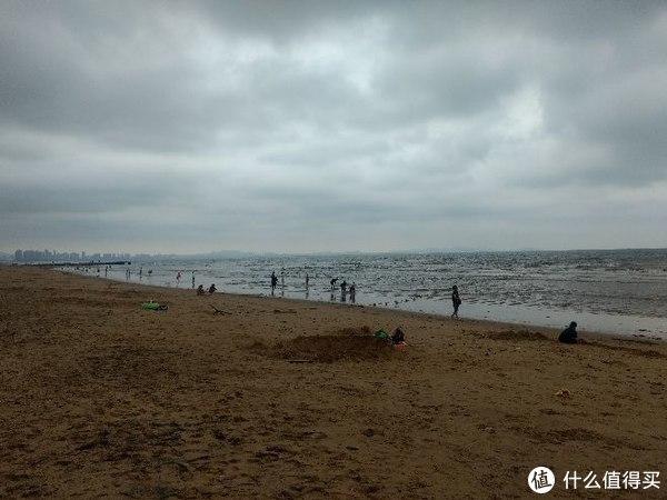 金沙滩海边