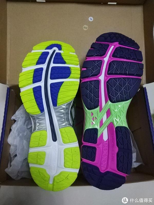 附一张与kayano22的鞋底对比图,主要是少了中间的稳定连杆(专业术语我不知道)