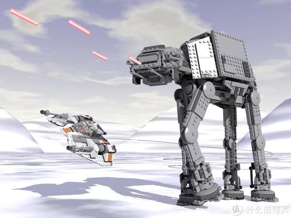雪地战机的尾部有鱼叉枪,射出带索挂钩将AT-AT的足部缠住使其倒下后进行攻击,效果显著。
