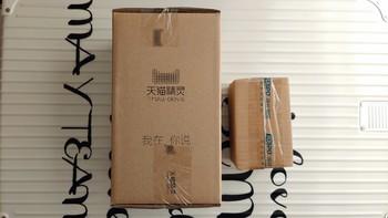 天猫精灵 M1 曲奇 智能音箱开箱展示(包装|主机|适配器|光圈)