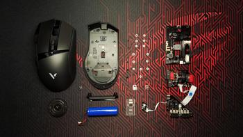 RAPOO 雷柏 VT350 双模游戏鼠标拆解评测