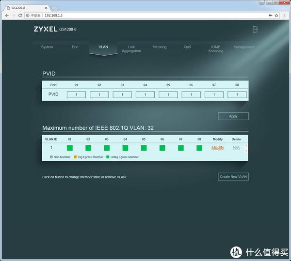 网口轻松扩展,Zyxel 合勤 GS1200-8 网管型 交换机 体验