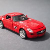 美致 奔驰SLS合金车模外观展示(轮胎|电池|车底)