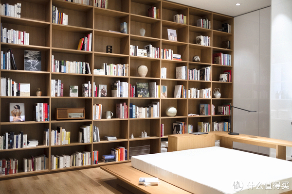 喜欢书的人会很羡慕这样一面墙的架子吧