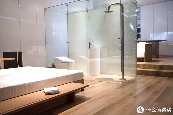 一小块卫浴空间,不透明会更适合家用