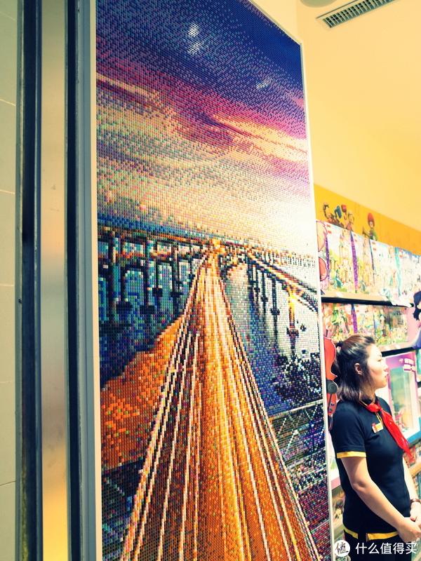 星海大桥的像素画。