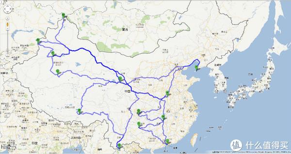 这是一张2013年标注的曾经到达过的目的地路线图,除了广州及大连,其他地区都是通过自驾完成的,5年过去了,又新增了不少目的地,有空再标注一下吧。唯独不变的是,江浙地带还是没有涉足(此次目的地连云港属于江苏,这是第一次进入江苏省)不是很喜欢繁华的城市,至今没去过苏杭沪。反而大西北地区已经刷了N遍