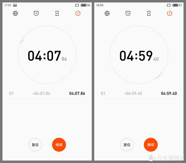 测了两次,恒温水壶(左)约4分15秒烧开,米家电水壶(右)约4分50秒。