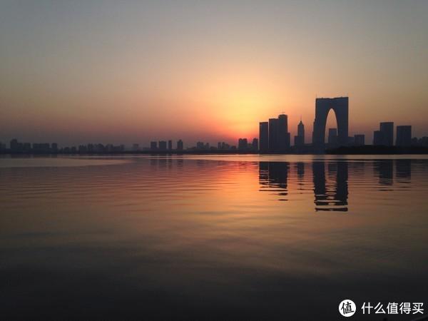 金鸡湖日落