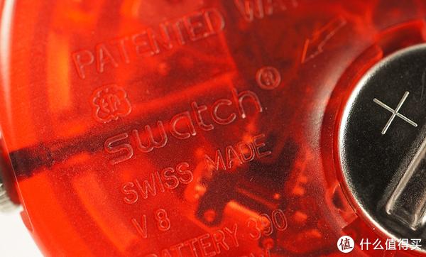 """真品Swatch机芯上会有""""Swiss made""""字样"""