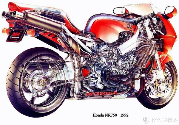 日本国宝级车,本田NR750,椭圆形缸,每缸8气门V型发动机!!牛逼的插图