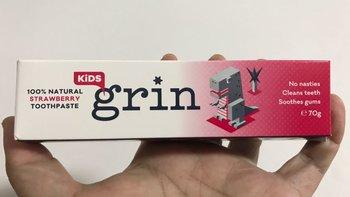 Grin格润安 儿童专用牙膏使用体验(味道|效果|优点|缺点)