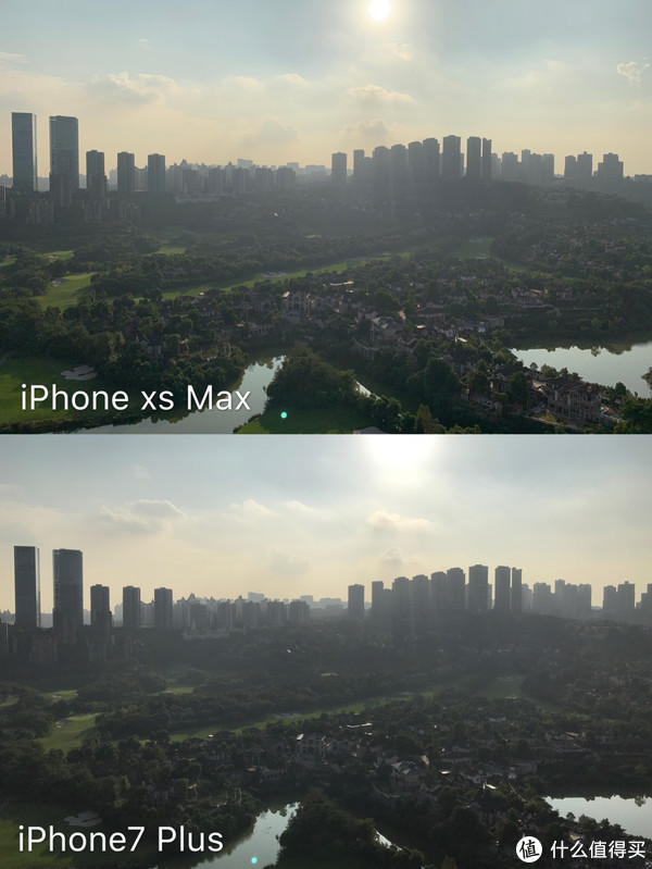 ▲首先是大逆光对比,可以明显看到这次改进的智能HDR起了关键作用,高光控制得很好,逆光的草坪色彩也得到了比较好的还原,云层层次比7p好得多。