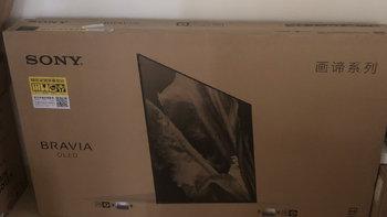 索尼 KD-65A9F 电视开箱安装(防尘盖|支架|屏幕)