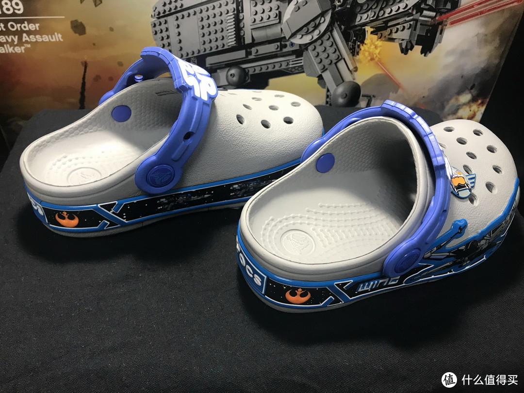 小星战迷的装备:Crocs 卡骆驰 星球大战  X-Wing 可发光童鞋